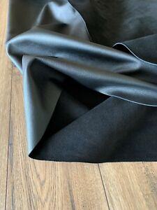 HIGHBURY UPHOLSTERY LEATHER - HALF HIDE - COLOR BLACK 1 - 1.2mm