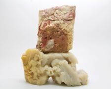 """Chinese Art and Character Chicken Bloodstone Sculpture/Paperweight,Apr 7""""Hx6""""W"""