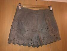Asos Grey Real Leather Shorts Hotpants UK6, XS BNWOT