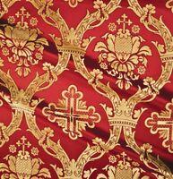 Cross Pattern Greek Liturgical Brocade High Quality Fabric Vestment 150cm wide