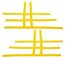 Raptor 660 350 Warrior Blaster  Nerf Bar Nets  Fit Alba  Tusk  Yellow A