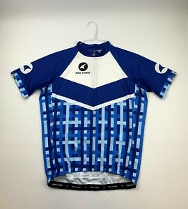 Pactimo Cycling Jersey Blue Men's Size Medium
