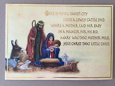 """Nativity Scene"" Christian Christmas Card By Pinecone Design~7 1/2"" X 5 1/4""~NEW"