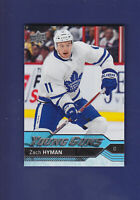 Zach Hyman RC 2016-17 Upper Deck Hockey Young Guns #222