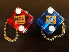 NCL Norwegian Cruise Lines Casino Dice Keychain Set of 2 - Blue & Red