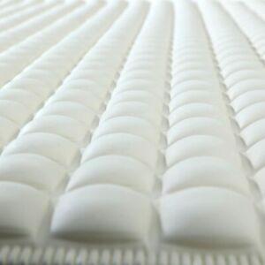 Cream Pillow Top Plus Safety Bath Mats Cushioned Comfort Slip-Resistance 15.5x27