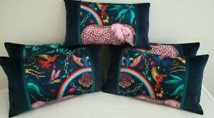 Emma J Shipley ZAMBEZI NAVY cushion. **FREE FEATHER PAD**49CM X 28CM approx