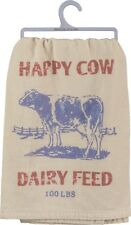 """Happy Cow Dairy Feed""~Feed sack-inspired~Tea Towel 28""~Hand/Kitchen/Dis h/Cotton"