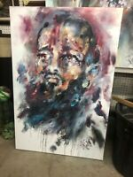 Nipsey Hussle Original Oil Painting On Canvas 35x52""