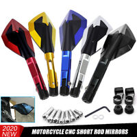 Universal CNC Motorcycle Bike Scooter Rearview Rear View Side Mirrors 10mm 8mm