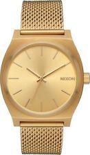Relojes de pulsera Nixon oro resistente al agua