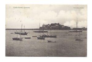 Vintage postcard Castle Cornet, St Peters Port, Guernsey. pmk Guernsey 1908