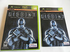 No Game-Xbox The Chronicles Of Riddick -Game Case & Manual Only -No Game Ex