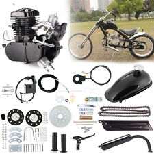 80cc 2-Stroke Engine Motor Kit for Motorized Bicycle Bike Gas Powered Black