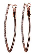 Swarovski Elements Crystal Fantastic Hoop Earrings Rose Gold Authentic 7227RGc