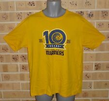 New Large Mens Central Coast Mariners CCM Soccer Jersey 10 yrs T Shirt + Scarf