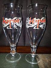 2 Lefebvre Hopus Belgian Strong Ale Beer Goblets Glasses 22 oz. Rebecq-Quenast,