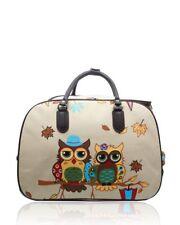 Women's Travel Bag Holdall  Luggage Owl Family Weekend Handbag Wheeled Trolley