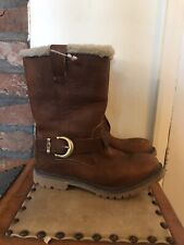 Timberland Women's Nellie Pull On Leather Boots Size UK4, EU37, US6W Brown
