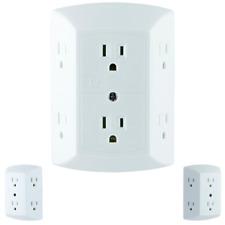Electrical Outlet Splitter Wall Socket Divider Multi Power Plug Adapter Extender