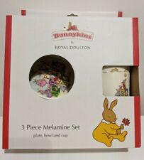 NEW - Royal Doulton Bunnykins Alphabet 3 Piece Set, bowl, plate, cup