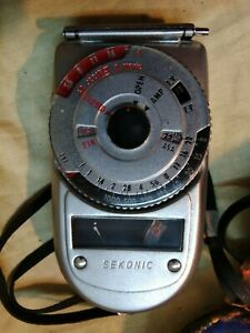 Vintage Sekonic Auto-Leader Model 38 Camera Photography Light Meter With Case