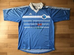 Maillot vintage RC Strasbourg Alsace Lait taille XL Adidas n°11