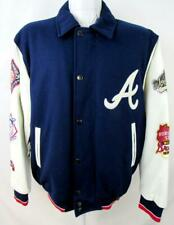 Atlanta Braves Mens M or L 3 Time Champions Wool Leather Jacket ATB 11