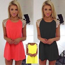Unbranded Chiffon Short Sleeve Shirt Dresses for Women