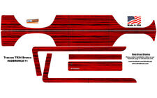 Red Wood Traxxas TRX4 Bronco Body Skin Wrap Decal Ultradecals