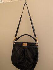 Marc by Marc Jacobs HILLIER Dark Blue Patent Leather Hobo Shoulder Bag