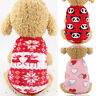 Pet Dog Cat Clothes Winter Flannel Warm Coat Cute Puppy Chihuahua Vest Sweater