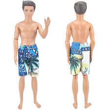 Dolls Clothes Swimsuits Beach Swim Trunks Boxer Shorts Swimwear For Barbie Ken S
