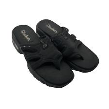 Skechers Womens Slides Sandals Black Size 9
