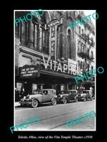 OLD LARGE HISTORIC PHOTO OF TOLEDO OHIO, VIEW OF THE VITA TEMPLE THEATER c1930