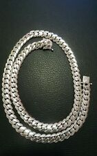 """10.60 mm solid Miami Cuban link Fine. 925 silver chain necklace  26 """" 160 grams"""