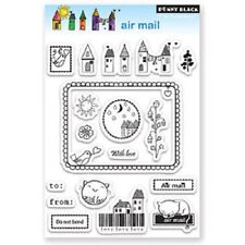 PENNY BLACK RUBBER STAMPS CLEAR AIR MAIL SET NEW STAMP SET