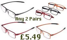 2 Pairs SuperLite Bendable TR90 Near Short Sighted Myopia Distance Glasses NG45