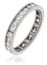 1.00ct F VS1 Brilliant Cut Diamond Full Eternity Wedding Ring, set in Platinum
