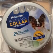 NEW Pet Armor Flea & Tick Collar for Small Dogs 2 Collars 12 Mon Protection 14""