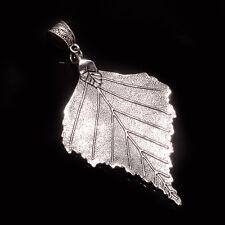 Silver Tone Handmade Retro Jewelry New Designer Hand Carved Leaf Pendant Jewelry