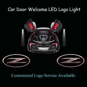 2x 3D Solid Z Logo Car Door Projector Shadow LED Light for Nissan Fairlady Z Z34