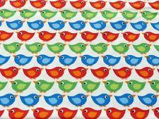 Bunte Vögel Druckstoff  Westfalenstoff  Meterware 50 cm x 150 cm Junge Linie