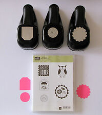 Stampin' Up! Tag Circle and Scallop Punches & Punch Bunch Stamp Set All are USED