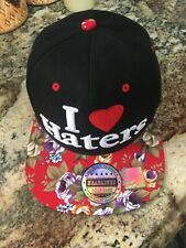 Headlines Baseball cap Black with floral rim  I ❤️ Haters