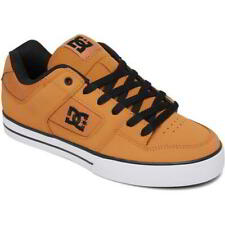 DC Pure Mens Wheat Brown Yellow Leather Skate Shoes Trainers Size 8-15