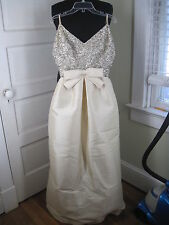 MALCOLM STARR Swoon-Worthy Vintage Ivory White Beaded Wedding Gown XS