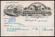 1900 Eagle Paint & Varnish Works Pittsburgh PA Vintage Letter Head Rare