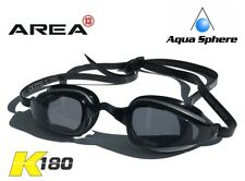 AQUA SPHERE Michael Phelps K180 Swimming Goggles, BLACK Smoked , TRIATHLON GOGGL