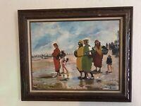"C.(Charles) Radoff Framed Oil On Canvas Original Signed By Artist 29"" X 36"""